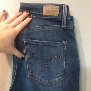 Levi's High Rise Skinny jeans faded blue